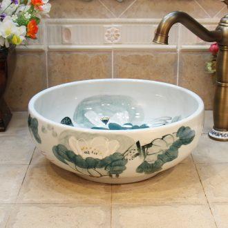 Small size of jingdezhen ceramic lavatory sink basin basin art stage basin small 34-35 cm