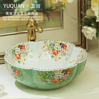 Jingdezhen ceramic stage basin toilet petals european-style hotel the pool that wash a face to wash its contracted art the sink