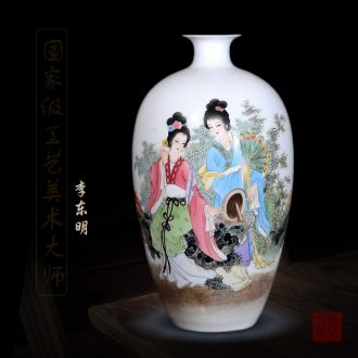 Jingdezhen ceramics dong-ming li hand-painted enamel vase as beauty as home sitting room handicraft furnishing articles