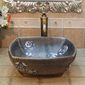 JingYuXuan jingdezhen ceramic lavatory basin basin sink art stage four beasts POTS birdbath