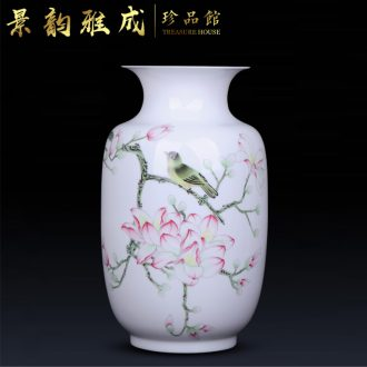 Jingdezhen ceramic contemporary and contracted pure hand-painted vases, decorative furnishing articles sitting room porch flower arranging porcelain arts and crafts