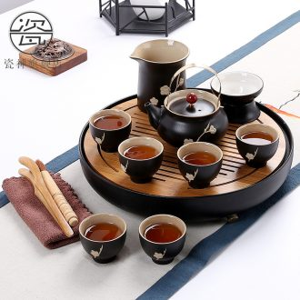 Dry tea table glass tea set porcelain household god kung fu suit Japanese contracted ceramic teapot tea tray sea water tea