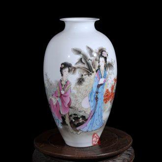 Dong-ming li jingdezhen ceramics powder enamel vase flower austral amorous feelings of modern household crafts are sitting room