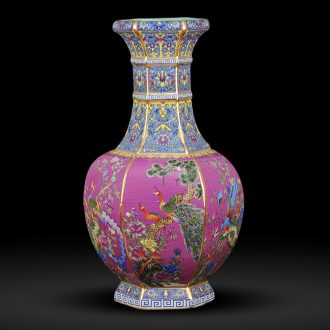 Jingdezhen ceramics imitation qianlong archaize floor paint palace large vases, flower arranging Chinese style adornment furnishing articles