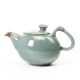 Bin's elder brother kiln ceramic teapot ice crack glaze on kung fu tea set for her single pot of large household teapot