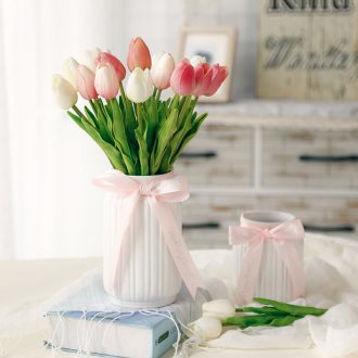 Table of pure and fresh and small pretty waist ceramic vase rural flower the furnishing articles home sitting room adornment flowers simulation package