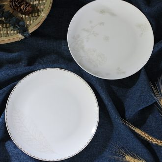 Creative household dish of jingdezhen ceramic plate tableware steak dinner plate contracted 8 inches plate plate plate surface