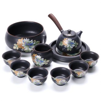 Thyme tang ceramics kiln kung fu tea set of a complete set of Japanese tea kettle) fair mug household gift box