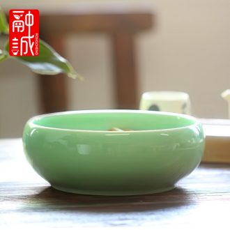 "Melts if wash the ceramic tea set large 8 ""longquan celadon tea writing brush washer wash water jar tea accessories cup bowl"