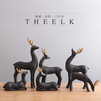 Elk ceramic furnishing articles artical country sitting room porch TV ark home decoration wedding gift