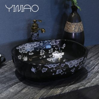 Million birds stage basin to jingdezhen european-style lavabo household creative ceramic art contracted lavatory basin