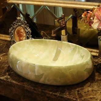 Ceramic art stage basin elliptic toilet lavabo Europe type restoring ancient ways marble sinks basin basin