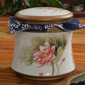 East west pot of tea caddy ceramic seal pot pu 'er wake receives thin waist cans GA3316 pottery and porcelain 7