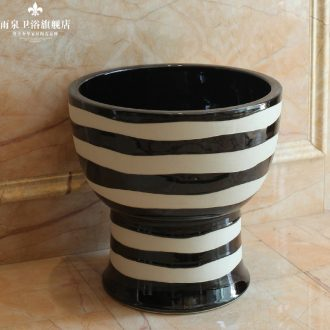 Jingdezhen ceramic mop rain spring pool balcony automatic mop pool mop pool water elution cloth pool contemporary and contracted