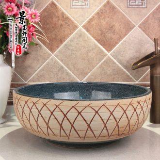 JingYuXuan jingdezhen ceramic art basin stage basin sinks the sink basin kiln snowflakes grid