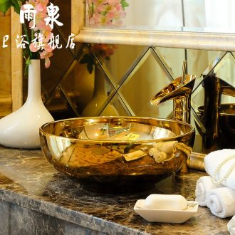Spring rain jingdezhen ceramic round wei yu the stage basin of continental lavatory basin sink art on stage