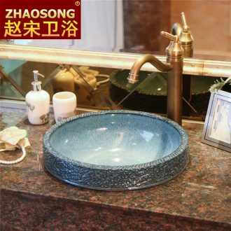 Zhao song European archaize ceramic taichung basin half embedded art on the stage basin below the basin that wash a face to wash your hands