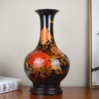 Jingdezhen ceramics glaze crystal vase flower arranging flowers sitting room, the new Chinese style household adornment handicraft furnishing articles