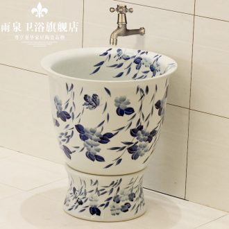 Rain spring basin blue and white porcelain of jingdezhen ceramic art mop pool outdoors mop mop basin bathroom mop pool