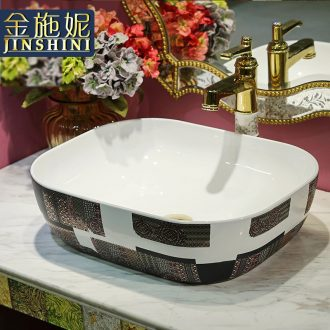 Gold cellnique jingdezhen ceramic sanitary ware art stage basin sink basin that wash a face 626 of Scotland