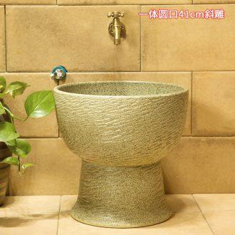 M beautiful ceramic art basin mop mop pool ChiFangYuan one-piece mop pool of 40 cm diameter inclined diao