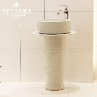 Jingdezhen ceramic column basin bathroom sinks the basin that wash a face water basin sink art balcony sink
