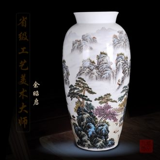 Jingdezhen ceramics Yu Zhao rev hand-painted enamel vase khe sanh seclusion home sitting room handicraft furnishing articles