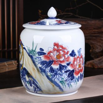 Jingdezhen ceramic POTS awake pu 'er tea pot of tea tea pot general box sealed storage tank is large