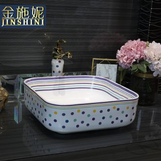 Gold cellnique lavatory toilet lavabo color ceramic disc white art basin that wash a face square wave
