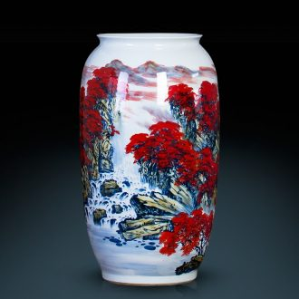 Jingdezhen ceramic quiver hand-painted pastel of large vase full draw cylinder cylinder sitting room adornment is placed