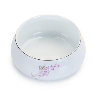 Old looking cixin qiu - yun, kung fu tea accessories large ceramic tea to wash the colour white porcelain cup writing brush washer wash hydroponic flower pot