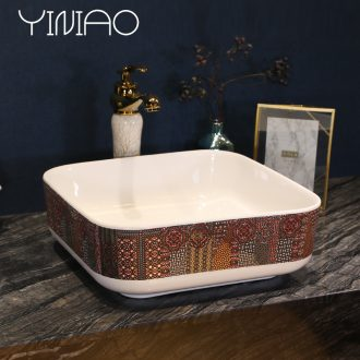 Million birds ceramic toilet lavabo square art basin sink basin sinks contracted household restoring ancient ways