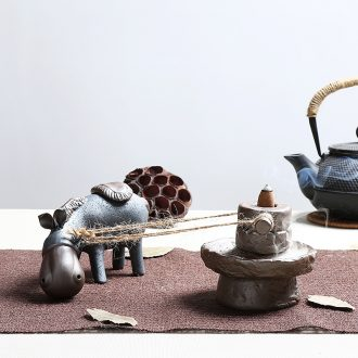 Chen xiang personality back incense back present donkey fair creative home furnishing articles the censer ceramic arts and crafts