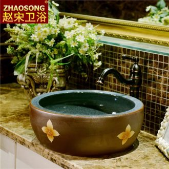 Jingdezhen Europe type restoring ancient ways of song dynasty ceramic art basin of household thickening of toilet stage basin sinks to wash your hands