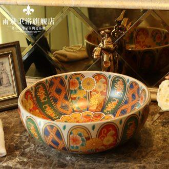 Jingdezhen ceramic toilet stage basin rain spring art basin of restoring ancient ways round basin sinks balcony sink