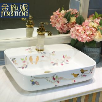 Gold cellnique stage basin basin contracted and contemporary ceramic art lavabo that wash bath lavatory exist