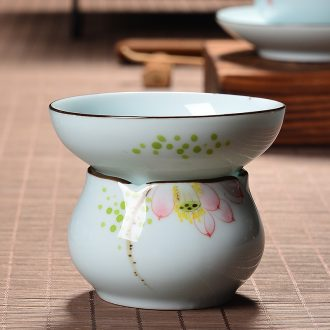 Hand-painted celadon) filter color hand-painted ceramic filter tea filters filter) tea