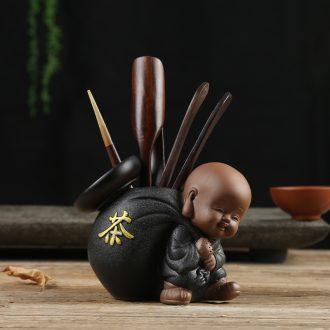 Bin, a complete set of ceramic ebony wings wood tea six gentleman's suit kung fu tea tea tray accessories tea combination