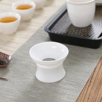 Thyme tang dehua ceramic filter) white porcelain tea Japanese tea tea tea set filter frame accessories