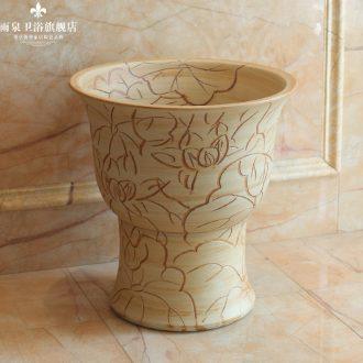 Spring rain jingdezhen art of archaize ceramic toilet mop pool mop mop bucket sculpturally towing basin
