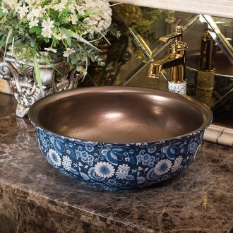 Jingdezhen ceramic balcony sink art basin Europe type restoring ancient ways round lavatory toilet stage basin