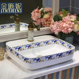Gold cellnique jingdezhen ceramic lavatory colored sink dish wash one's hands stage basin is the basin that wash a face to wash your hands