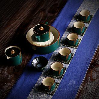 Shaw words and colour the cicada's tea set of high-grade ceramic dual kung fu tea set tea tray tea filter