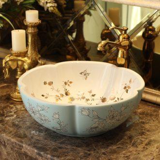 Jingdezhen ceramic basin stage basin sinks art circle petals European toilet lavabo pastoral