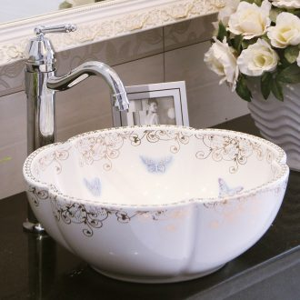 Spring rain home stage basin round hotel art basin of continental basin ceramic bathroom toilet lavabo balcony