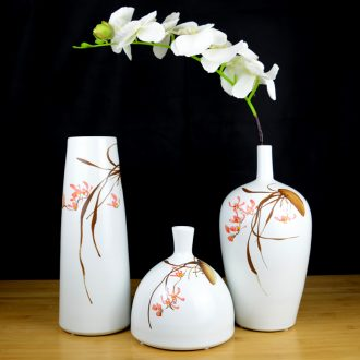 Jingdezhen ceramics hand-painted modern new Chinese vase flower arrangement sitting room home furnishing articles on your table