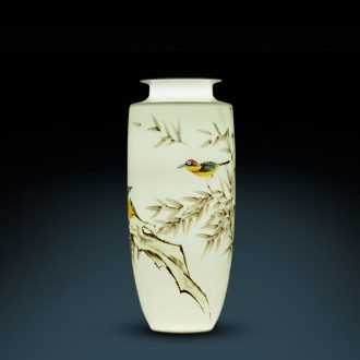 Jingdezhen ceramic famous master hand under the glaze the wind attack the sitting room porch TV ark flower vases, furnishing articles