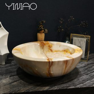 Million birds ceramic art basin stage basin bowl sink European toilet lavatory basin of marble table
