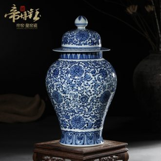 Antique hand-painted porcelain of jingdezhen ceramics general tank storage tank furnishing articles of Chinese style porch sitting room adornment