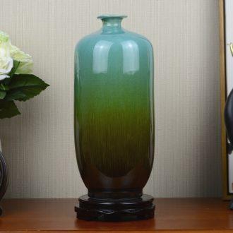 Jingdezhen ceramic kiln blue vase European ikebana sitting room porch household soft adornment handicraft furnishing articles